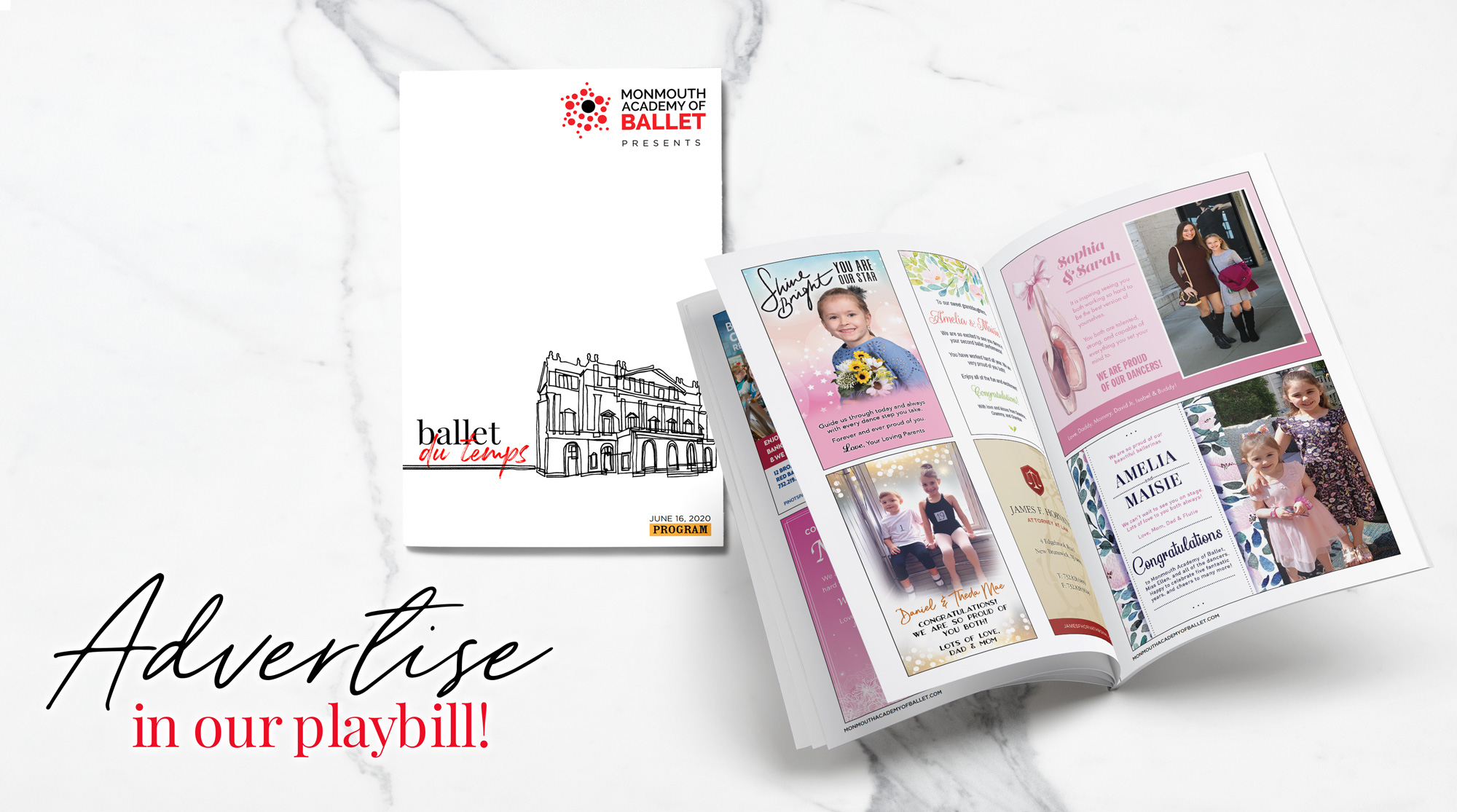 Advertise in Our Playbill